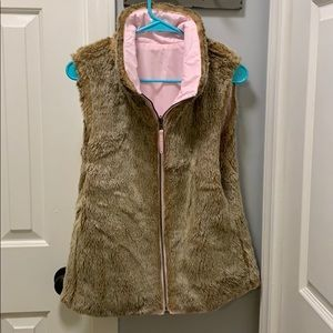 Faux fur reversible vest from Gap